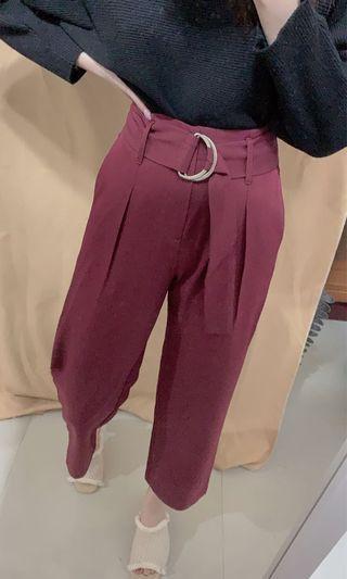 實拍 Kodz購入 腰帶直統褲