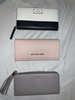 Authentic MK and Kate Spade wallets
