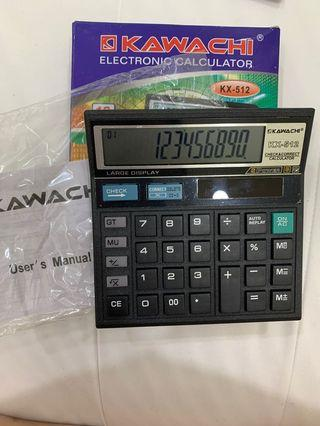 Kalkulator Elektronik Electronic Calculator 12 Digits Kawachi