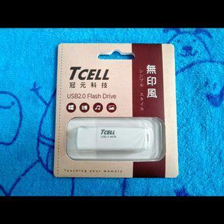 TCELL冠元64GB無印風隨身碟(簡約白)