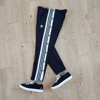 Adidas original adibreak track pant 全新 排扣褲 熱身褲 運動褲 椎形 男 黑色 L號