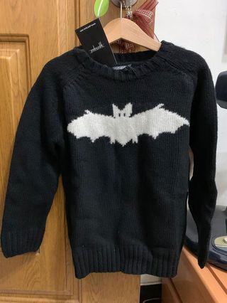 全新品!西班牙Yporque小蝙蝠厚針織毛衣
