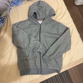 灰色 棉質連帽外套 #出清2019