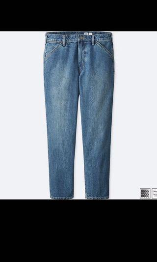 UNIQLO U 上寬下窄牛仔褲 藍色 (407312)