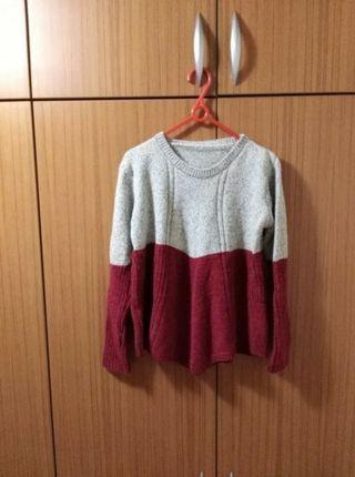 全新💕雙色拼接針織毛衣