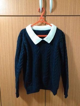 💕丈青麻花針織毛衣