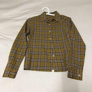 復古格紋襯衫