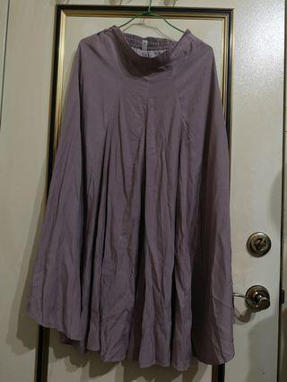 全新     荷葉裙      紫灰色