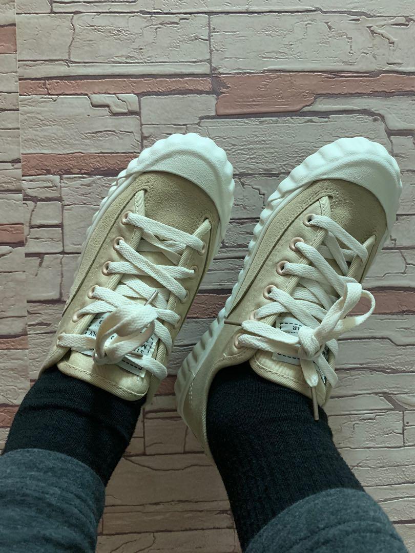 🌟全新🌟韓版復古帆布餅乾鞋     經典潮流高顏值百搭餅乾鞋 (奶茶色)
