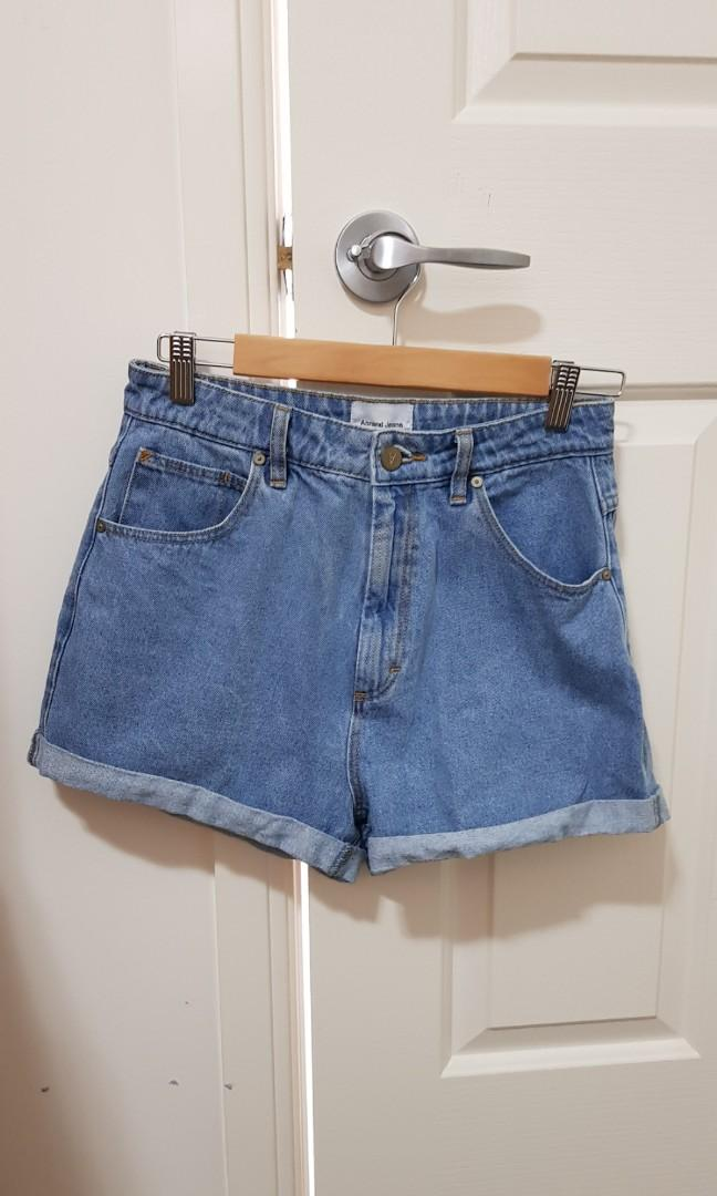 Abrand Jeans high-waisted relaxed fit blue denim shorts