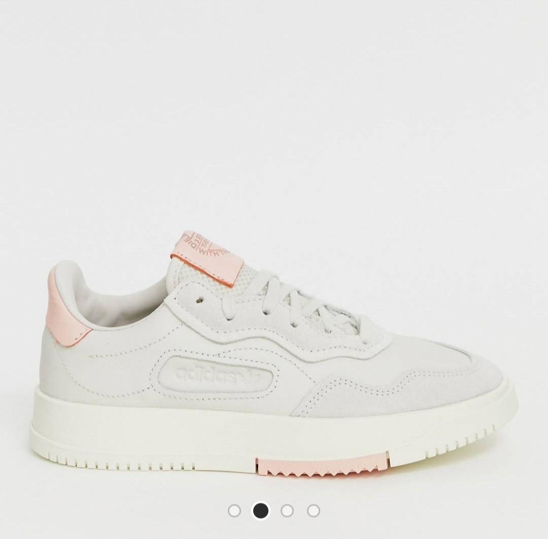 Adidas originals sc premiere sneaker in grey and pink