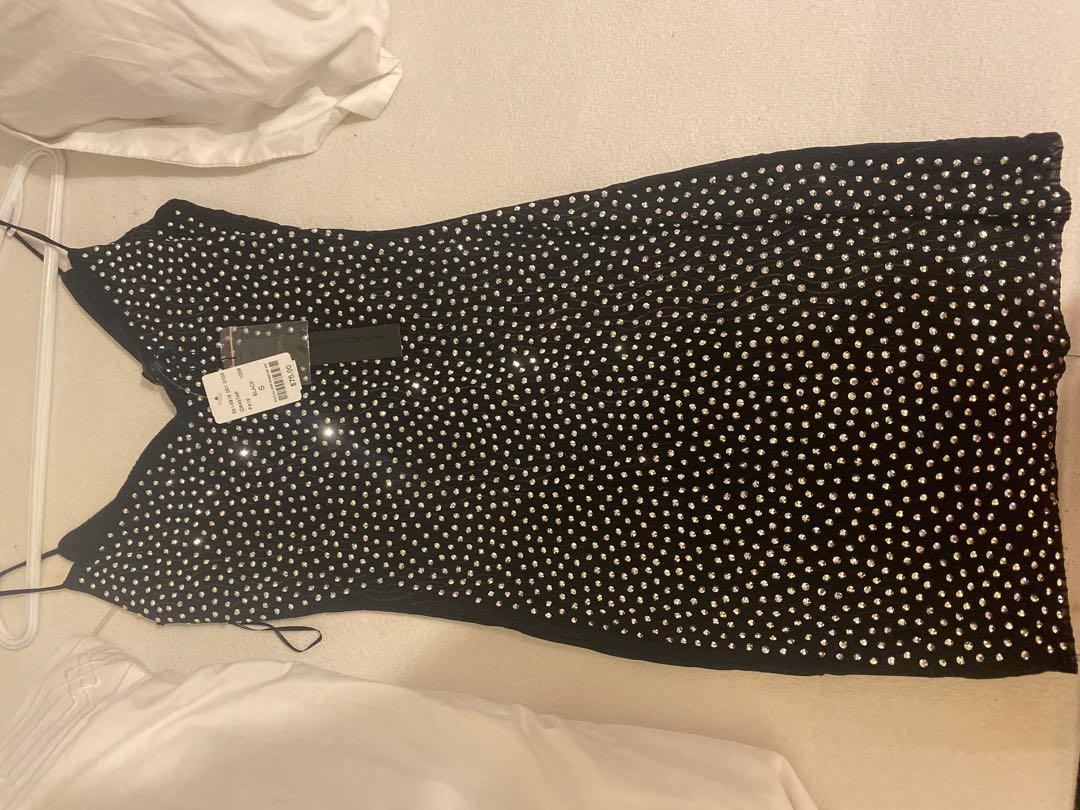 Black sequin dress from m brand new tags still on it