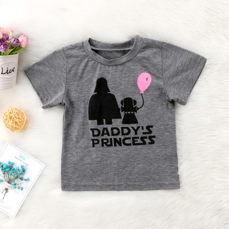 Brand new size 1 grey TShirt Tee cute Daddy's Princess print