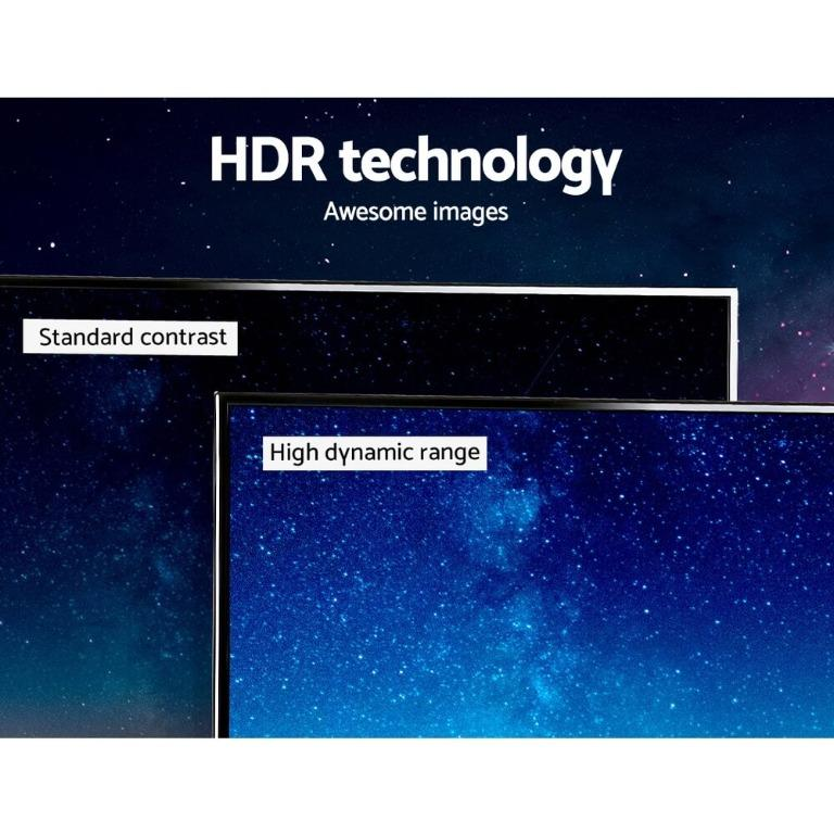 Devanti Smart LED TV 50 Inch 50″ 4K UHD HDR LCD Slim Thin Screen Netflix YouTube