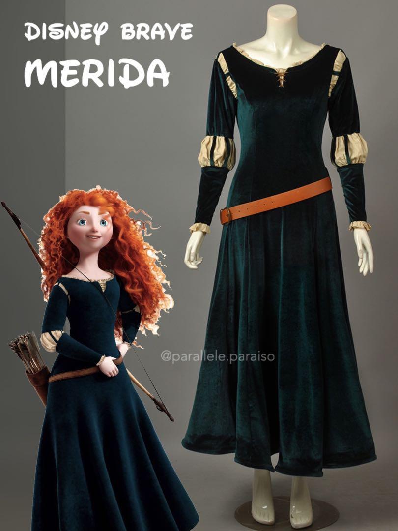 DISNEY BRAVE Merida Cosplay Costume Rental  - Halloween / Party / Event / Annual Dinner / Theme Costume (Movie Character / Fairytale)