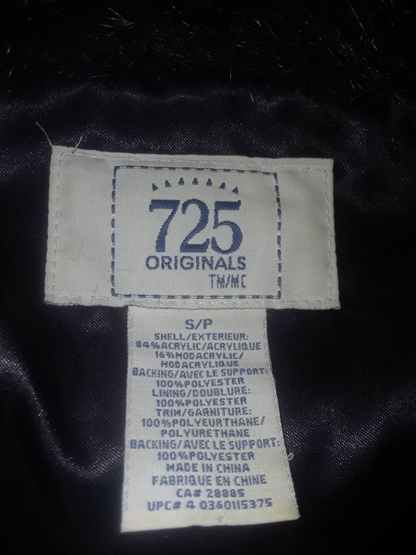 Fur fashion jacket coat with zippered bodice small