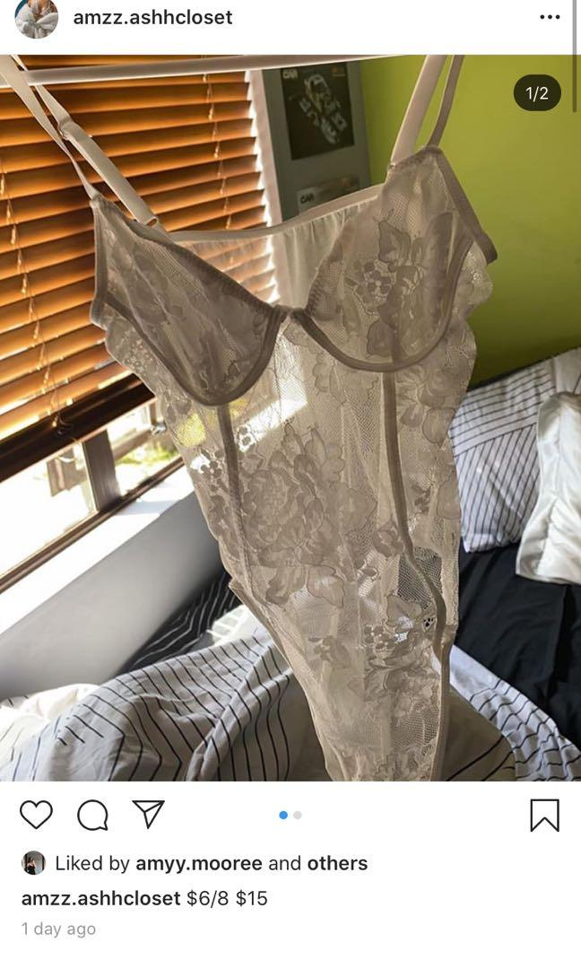 Lace body suite ( boob area is covered by another layer of material)