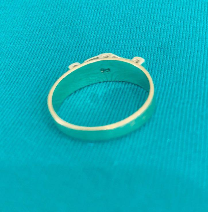 Ladies Sapphire & Diamond Set Yellow Gold Ring 9ct