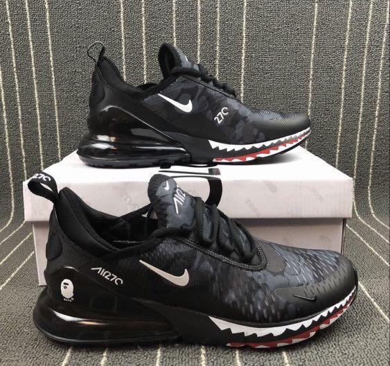Nike Air Max 270 X Bape, Men's Fashion