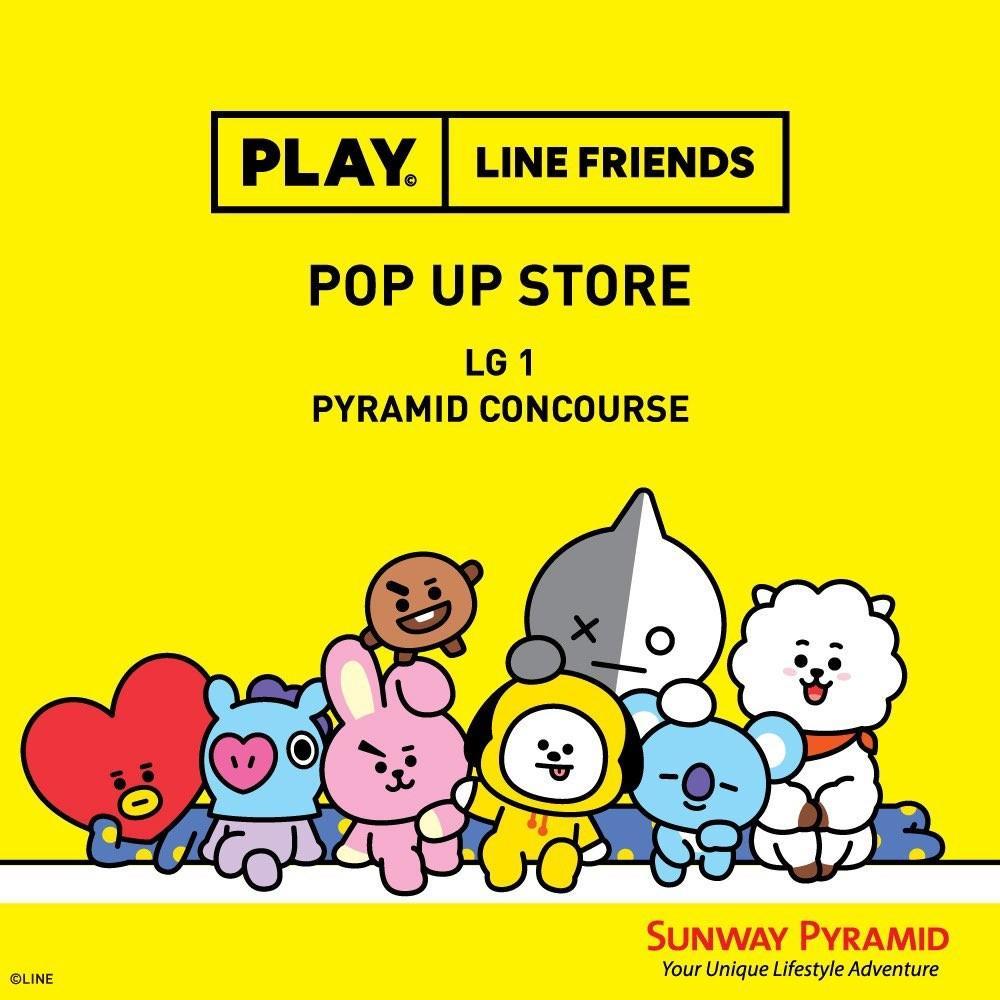 Purchasing service bt21 pop up store BTS line friends