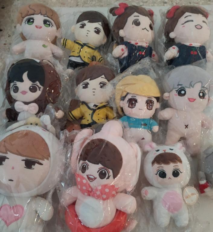 [Ready Stock / Brand New / Original] Chanyeol Baekhyun Lay Sehun Luhan Suho Kai doll