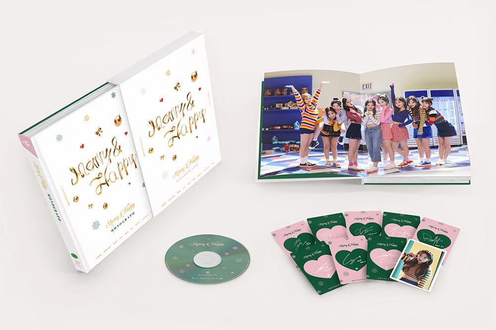 [Ready Stock/Sealed /Discount  RM30] TWICE - Merry & Happy MONOGRAPH Limited Edition 150p Photobook+DVD+9 Photocard