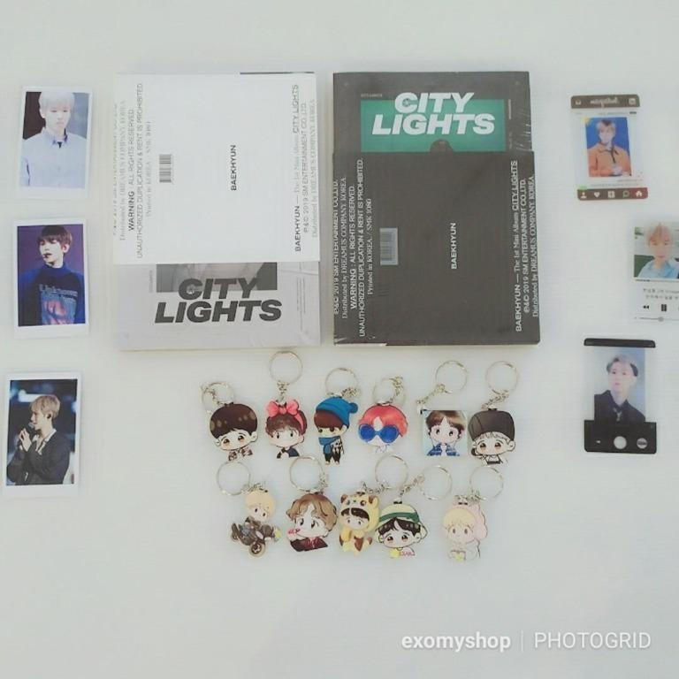 [Ready Stock/Sealed+Freebies+Poster] BAEKHYUN The 1st Mini Album 'City Lights'