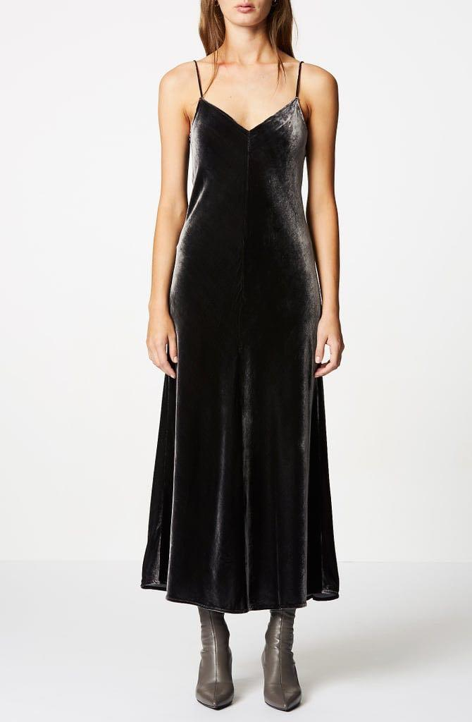 SCANLAN THEODORE VELVET BIAS DRESS - rent $40, sell - name your price, rrp $600+ AUS 6
