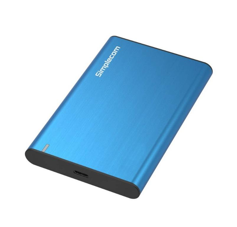 "Simplecom SE221 Aluminium 2.5"" SATA HDD/SSD to USB 3.1 Enclosure Blue"