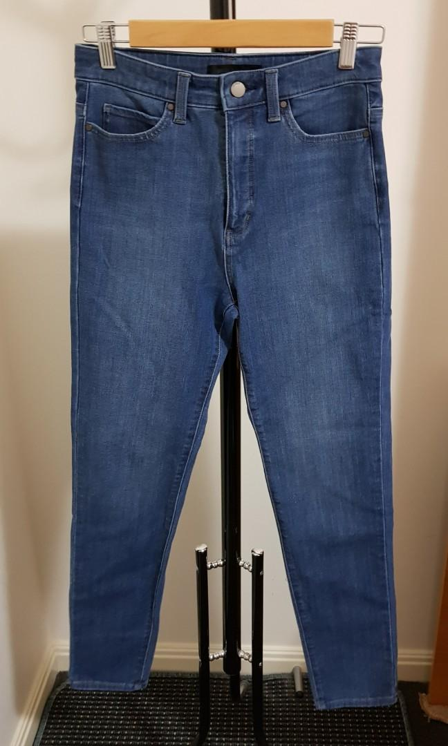 Uniqlo skinny high-waisted ultra stretch jeans 27 inch