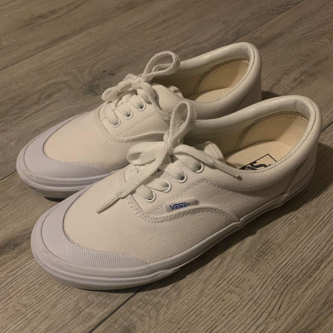日本Vans Era Half Moon 白布鞋, 女裝, 女