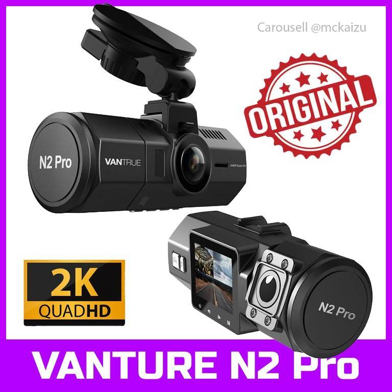 Vantrue N2 Pro Dual Dash Cam Dual Infrared Night Vision Front and Inside Dash Camera, 2.5K 2560x1440P Single Front, 310° Car Camera, 24hr Parking Mode, Motion Sensor, Support 256GB max
