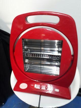 手提試復古電暖器功能正常