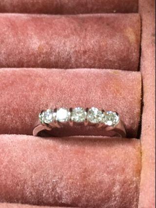 天然鑽石K金戒指