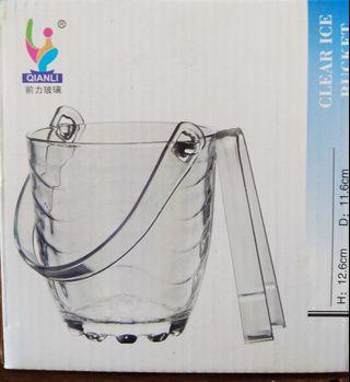 CHL1254 波浪玻璃冰桶 附冰夾