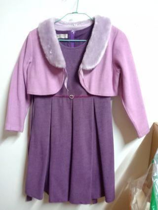 #出清2019紫色公主裙+小外套