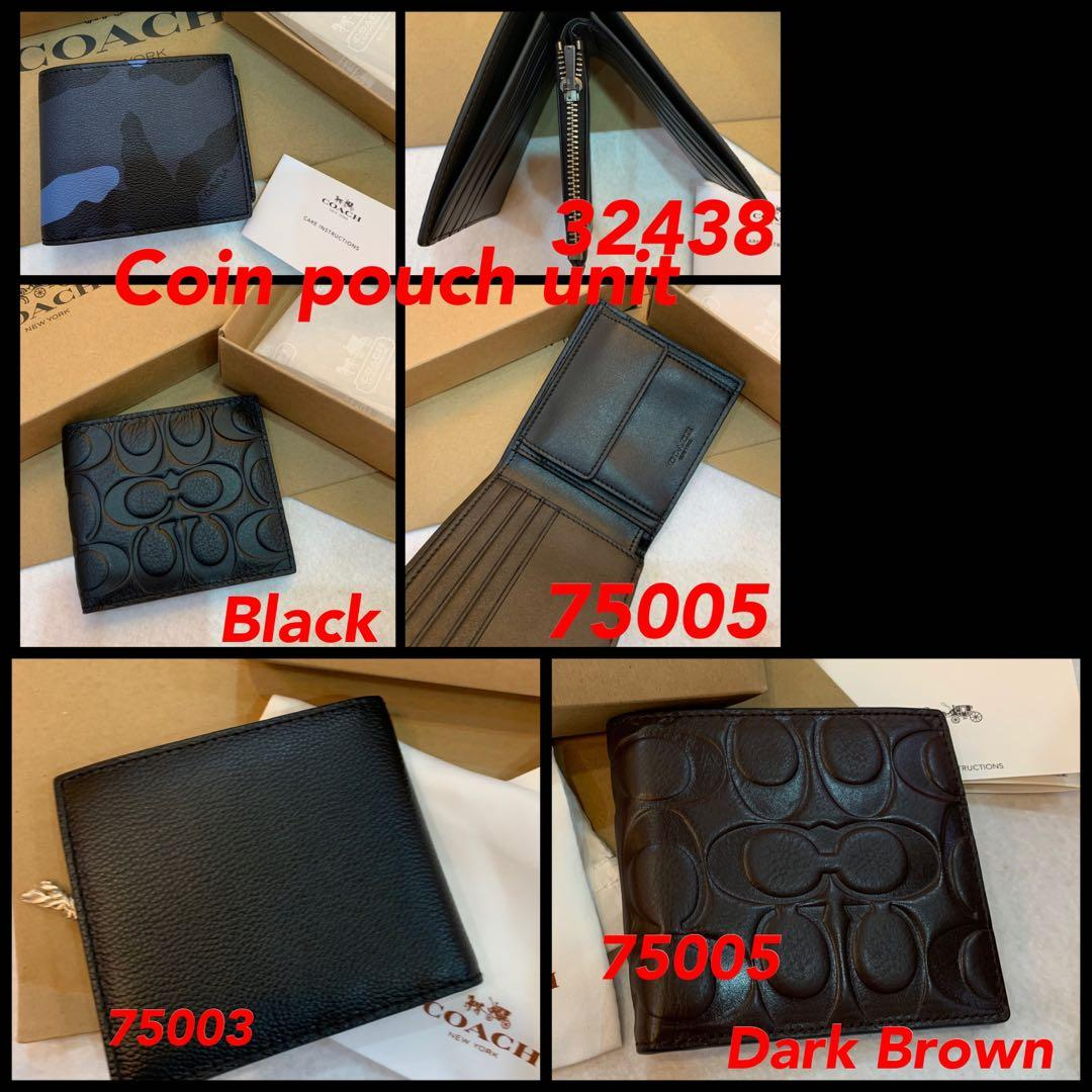 (18/12/19)Ready Stock Authentic coach men wallet permanent listing jbnnnn