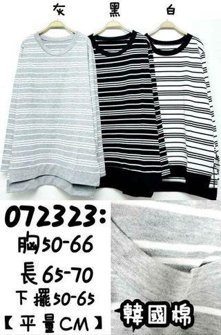 《現貨便宜賣》🍂秋冬新品💗 韓國棉 雙色細條紋圓領長版上衣 質料好👍親膚不刺身 寬鬆休閒 舒適好穿