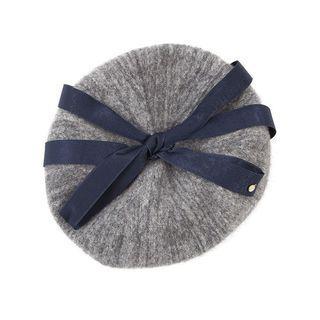 美術系學生蝴蝶結緞帶貝蕾帽