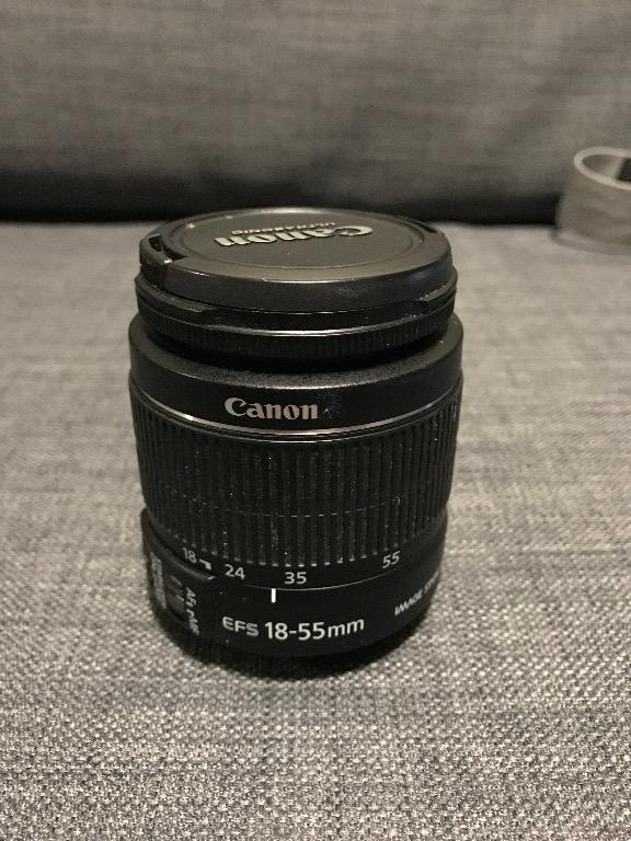 Canon EOS Rebel T3 with Canon Zoom Lens EF 75-300mm and Bag