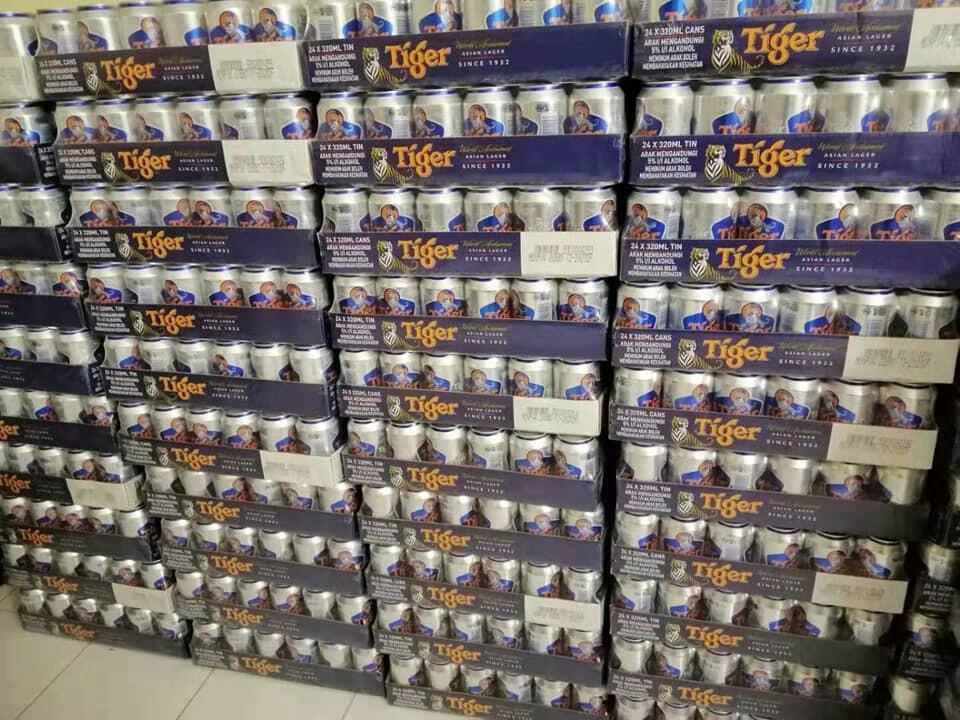 Delivery tiger beer Job