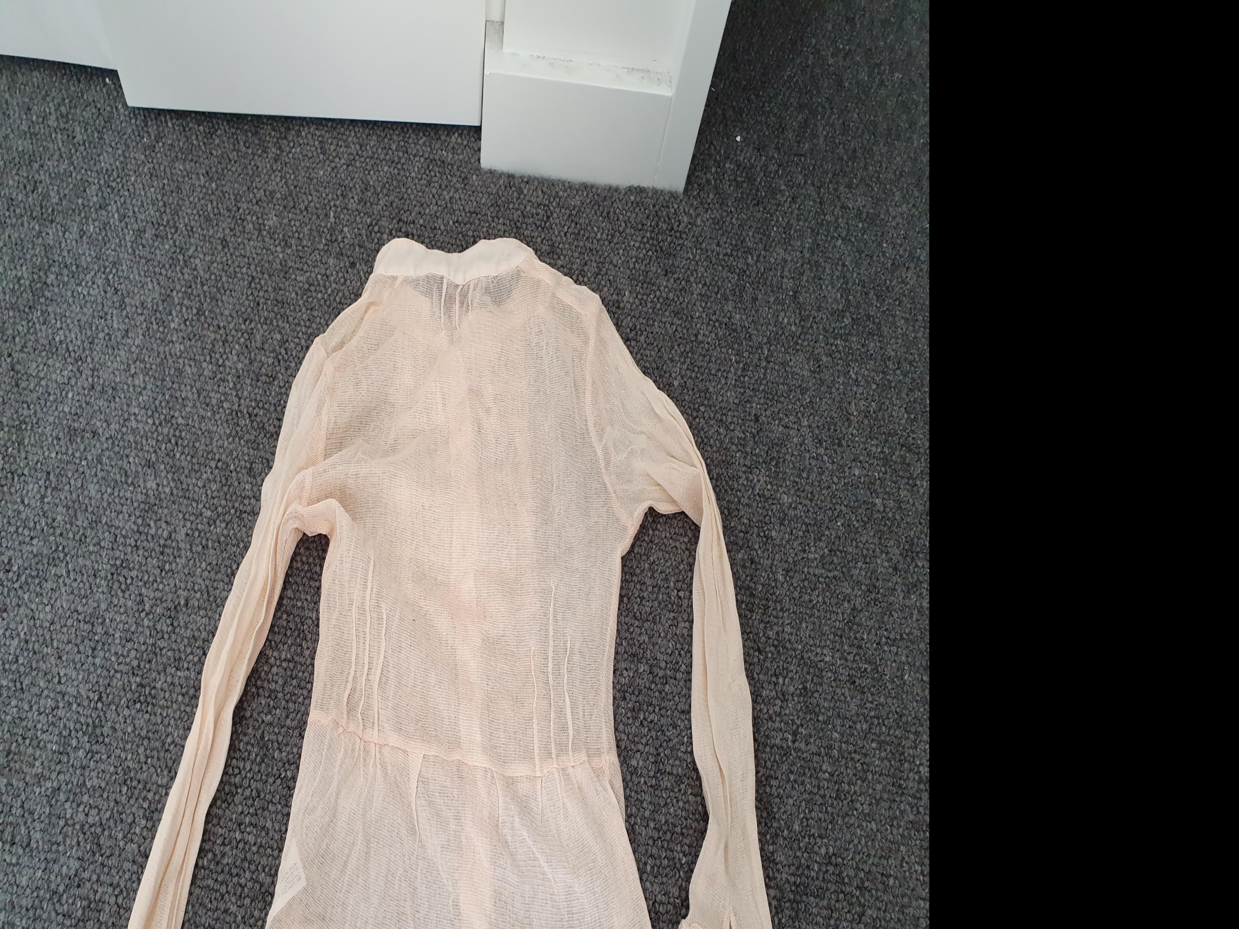 Essentiel - girls long sleeves lace pale peach top - sz 14 #swapau