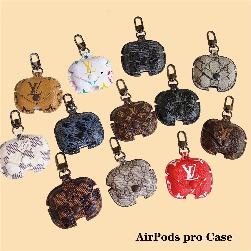 Fashion Lv Gucci Leather Airpods Pro Case Mobile Phones
