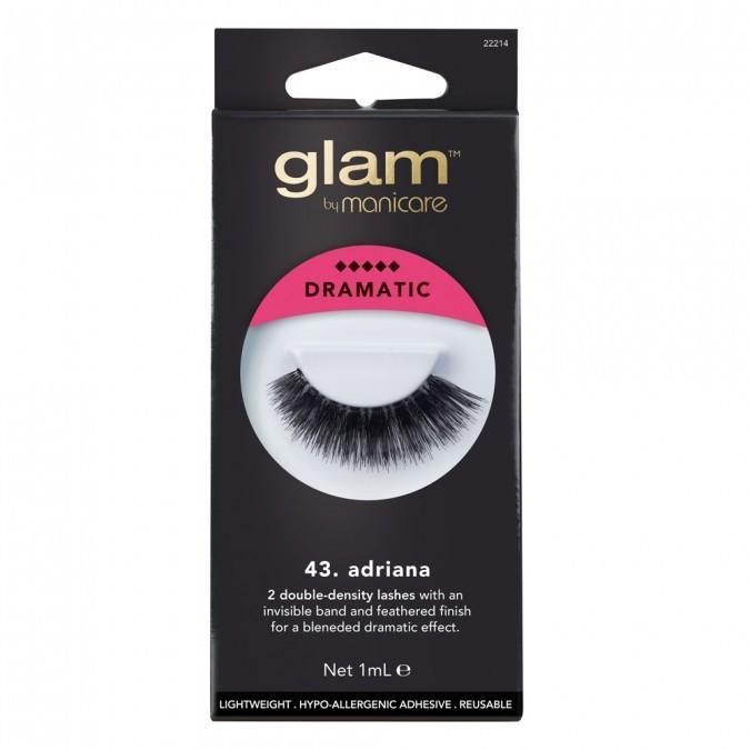Glam By Manicure Dramatic Double Density Invisible Band Lightweight Reuseable Natural Eye Lash Fake Eyelashes