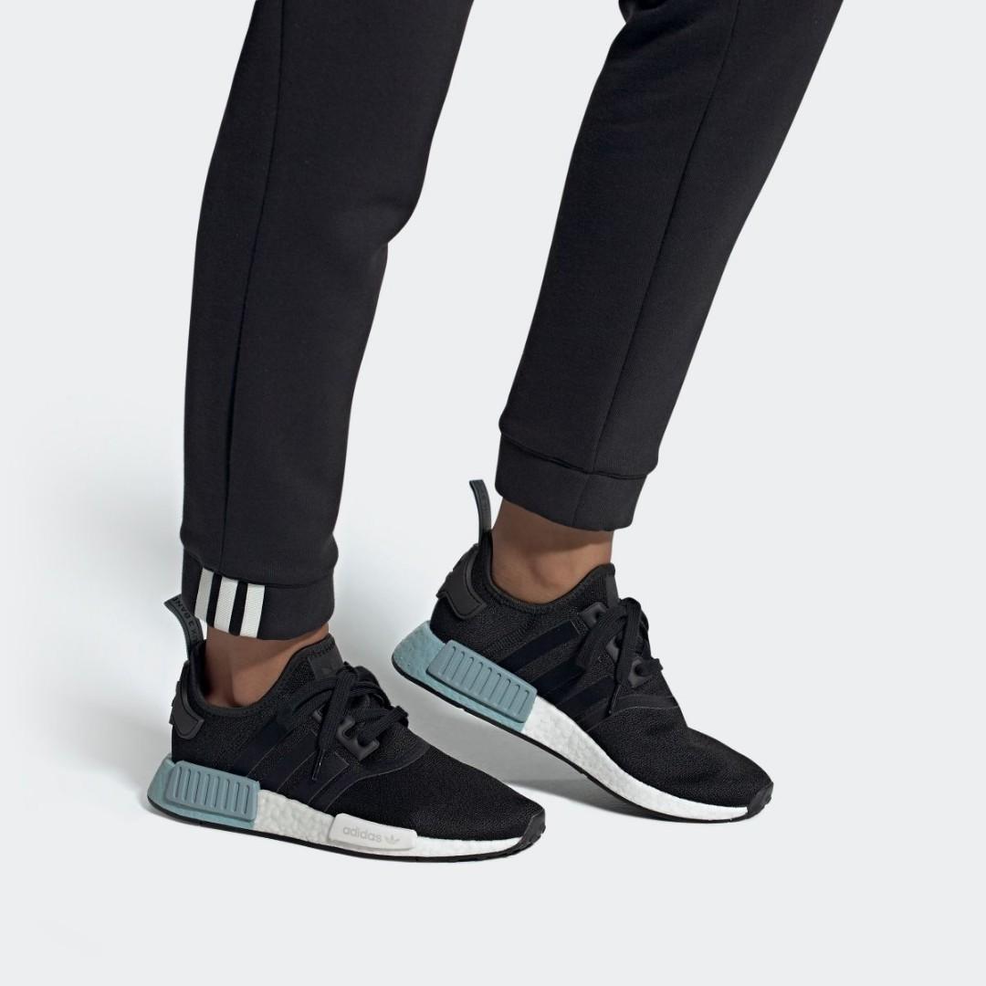 Japan Exclusive Adidas Nmd R1 Black Blue Ee5178 Women S Fashion