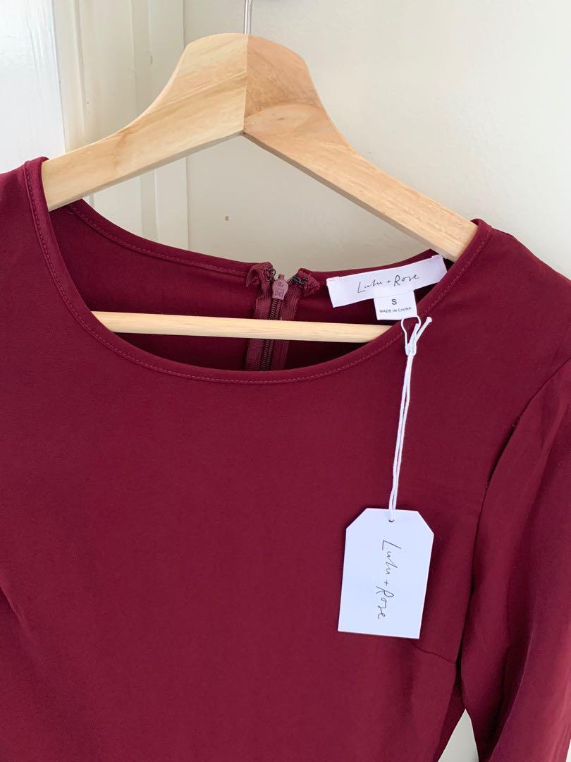 Lulu & Rose Dress - Dionne Drop Waist Port Size S - Paid $89.95