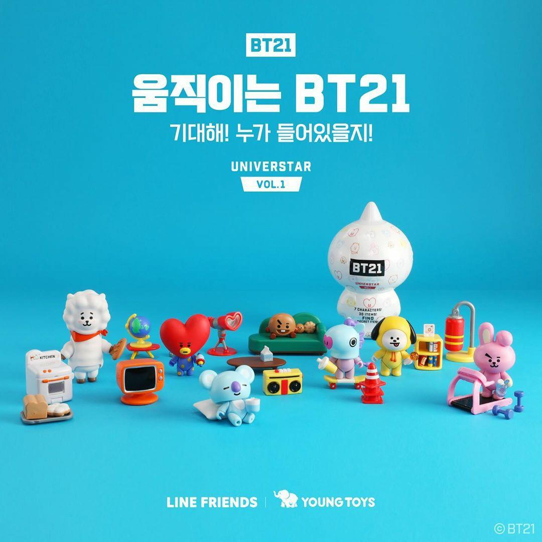 (PO) Official BTS BT21 Collectible Figure Blind Pack Vol.1 (Basecamp Theme)