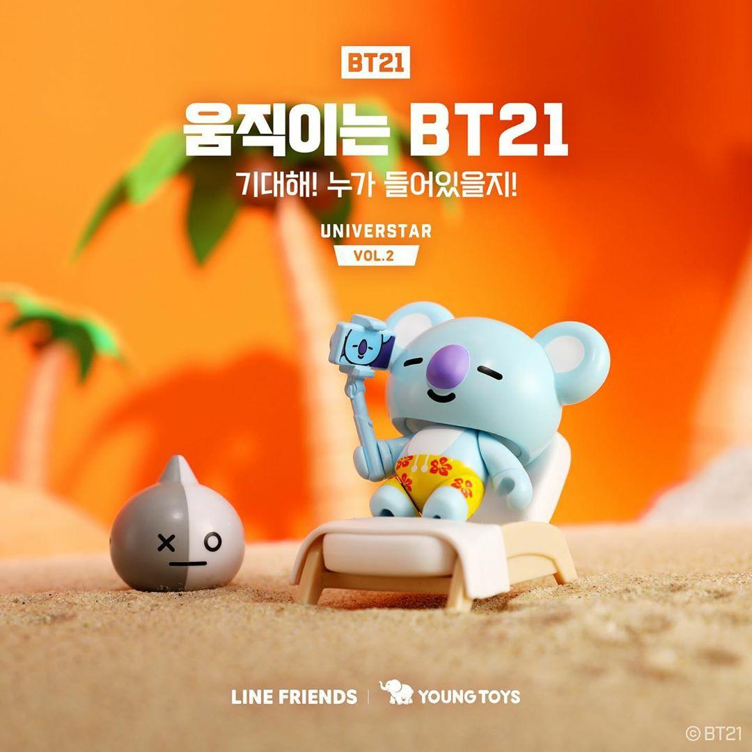 (PO) Official BTS BT21 Collectible Figure Blind Pack Vol.2 (Summer Vacation Theme)