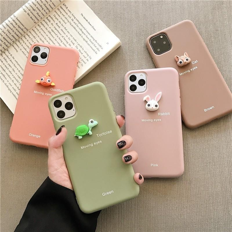 Samsung & Iphone  Case Animal Accessories wobbly eyes