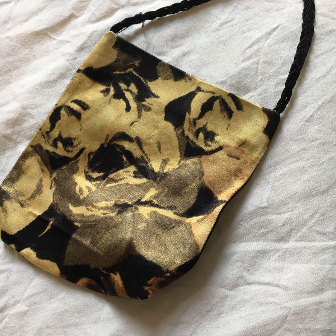 Vintage Satin & Rope Side Bag | Excellent Condition